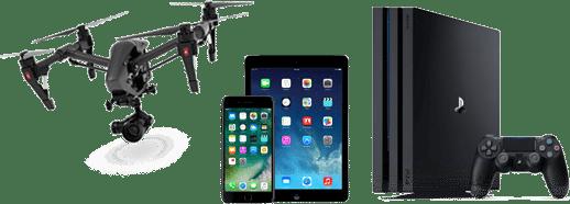 Cadeaux téléphones, tablette, console, drone